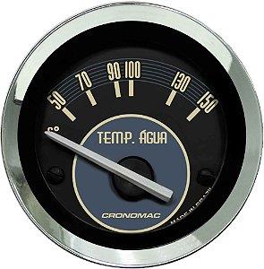 Termômetro Água ø52mm 12V com Sensor Fusca Bege | Cronomac