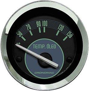 Termômetro Óleo ø52mm 12V com Sensor Fusca Verde | Cronomac