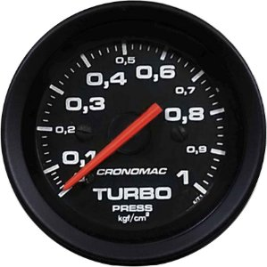Manômetro Turbo 1KGF/CM² ø52mm Street/Preto| Cronomac