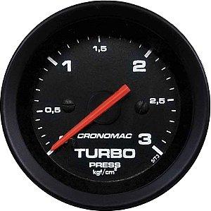 Manômetro Turbo 3KGF/CM² ø52mm Street/Preto | Cronomac