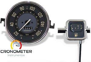 Kit Velocímetro 160km/h e Indicador Mecânico Original VW/Bege | Cronomac