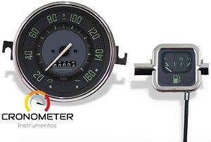 Kit Velocímetro 160km/h e Indicador Mecânico Original VW/Verde | Cronomac