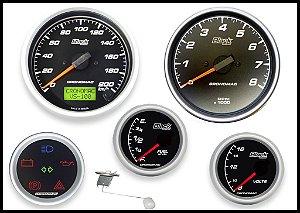 KIT 5 Instrumentos ø100mm/60mm Black Series COM sensor de velocidade | Cronomac