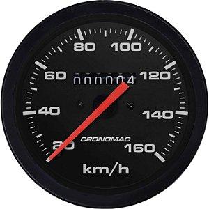 Velocímetro 160km/h ø85mm Street/Preto   Cronomac