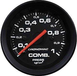 Manômetro Combustível 1KGF/CM² ø52mm Street/Preto | Cronomac