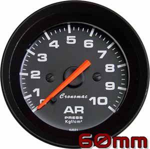 Manômetro de Ar 10KGF/CM² ø60mm Street/Preto | Cronomac