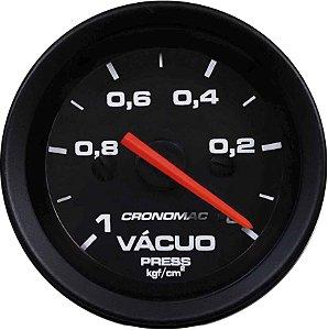 Vacuômetro Sem Faixa ø52mm Street/Preto| Cronomac