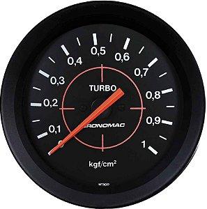 Manômetro Turbo F1000 1KGF/CM² ø100mm Street/Preto| Cronomac