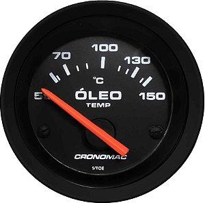 Termômetro Óleo ø52mm 12V com Sensor Street/Preto| Cronomac