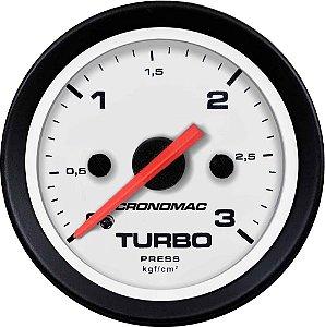 Manômetro Turbo 3KGF/CM² ø52mm Street/Branco | Cronomac