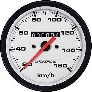 Velocímetro 160km/h ø85mm Street/Branco | Cronomac