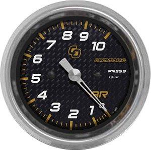 Manômetro de Ar 10KGF/CM² ø60mm Carbono | Cronomac