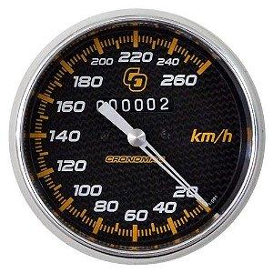 Velocímetro 260km/h ø100mm Carbono | Cronomac