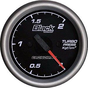 Manômetro Turbo 2KGF/CM² ø60mm Black Series | Cronomac