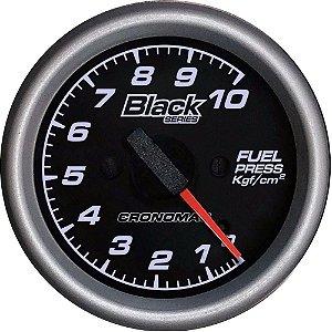 Manômetro Combustível 10KGF/CM² ø60mm Black Series | Cronomac