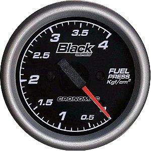 Manômetro Combustível 4KGF/CM² ø60mm Black Series | Cronomac