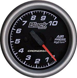 Manômetro de Ar 10KGF/CM² ø60mm Black Series | Cronomac