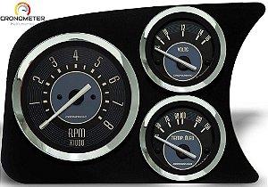Painel Fusca L.E. Contagiro/Voltímetro/Termômetro Óleo COM Sensor - Bege | Cronomac