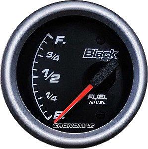 Indicador Nível de Combustível ø60mm 099 Black Series | Cronomac