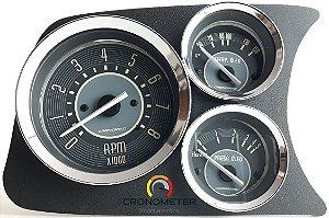 Painel Fusca L.E. Contagiro/Termômetro do Óleo/Pressão do Óleo COM Sensor - Bege | Cronomac