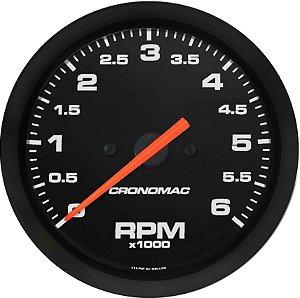 Contagiro 6000RPM ø85mm Diesel Ajuste Street/Preto| Cronomac