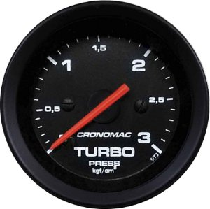 Manômetro Turbo 3KGF/CM² ø60mm Street/Preto | Cronomac