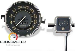 Kit Velocímetro 200km/h e Indicador Mecânico Original VW/Bege| Cronomac