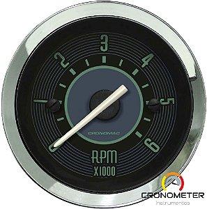 Contagiro 6000RPM ø52mm 2/4/6/8 Cil Fusca Verde| Cronomac