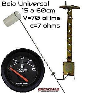 Indicador ø52mm Street/Preto Cronomac com Boia Combustível Universal (clique e leia a descrição)