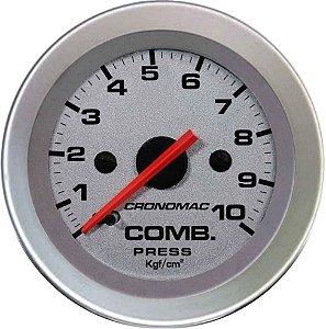 Manômetro Combustível 10KGF/CM² ø52mm Racing| Cronomac