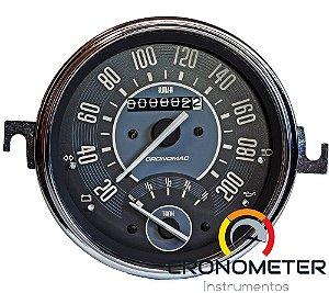 Velocimetro Fusca 110mm Original Cronomac 200km/h com Indicador Combustível VW Bege