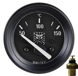 Termômetro ø52mm 12V com Sensor Puma GTS/GTE 68 à 75 | Willtec