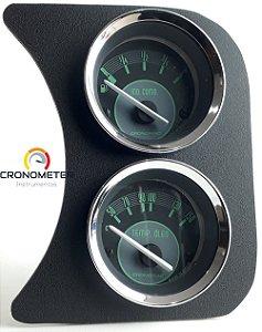 Painel Fusca L.D. Nível de Combustível e Temperatura Óleo ou Água - Verde | Cronomac