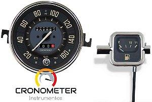 Kit Velocímetro 160km/h Odometro Duplo e Indicador Mecânico Original VW/Bege | Cronomac