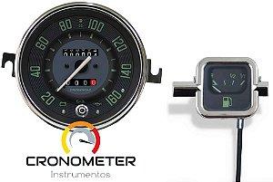 Kit Velocímetro 160km/h Odometro Duplo e Indicador Mecânico Original VW/Verde | Cronomac