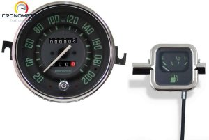 Kit Velocímetro 200km/h Odometro Duplo e Indicador Mecânico Original VW/Verde   Cronomac