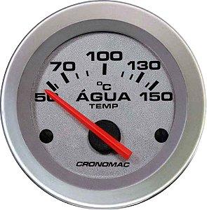 Termômetro Água ø52mm 12V com Sensor Racing | Cronomac