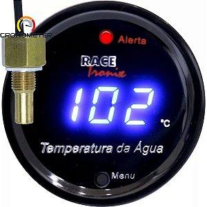 Medidor Temperatura da Água Digital 52mm Display Azul COM Sensor TH90