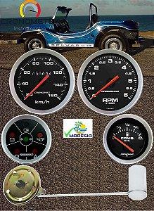 KIT 4 Instrumentos ø100mm/52mm Fusca/Buggy Sport | Cronomac
