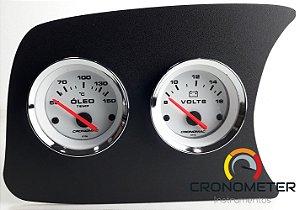 Painel Fusca L.E. Termômetro do Óleo/Voltímetro - Branco| Cronomac