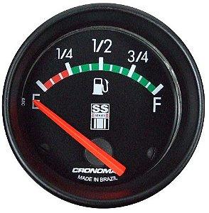 Indicador Nível de Combustível ø52mm 075 Opala SS Series | Cronomac