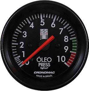 Manômetro Óleo 10KGF/CM² Mecânico ø60mm Opala SS Series | Cronomac