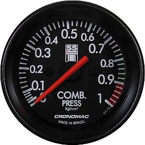 Manômetro Combustível 1KGF/CM² Mecânico ø60mm Opala SS Series | Cronomac
