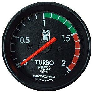 Manômetro Turbo 2KGF/CM² COM FAIXA ø60mm Opala SS Series | Cronomac