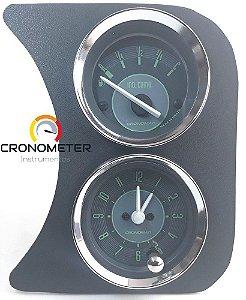 Painel Fusca L.D. Relógio de Horas/Indicador de Nível de Combustível - Verde | Cronomac