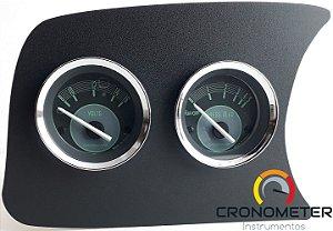 Painel Fusca L.E. Voltímetro/Pressão do Óleo Com Sensor - Verde | Cronomac