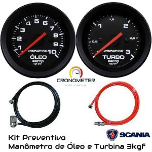 Kit Preventivo Scania Man. Óleo 10kgf + Turbo 3kgf | Street/Preto | Cronomac