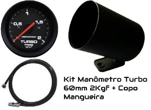 Kit Turbo 2kgf 60mm com mangueira e copo| Cronomac