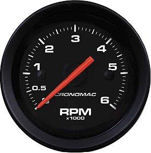 Contagiro 6000RPM ø52mm Diesel Ajuste Street/Preto| Cronomac