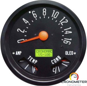 Velocímetro 160km/h ø140mm Combinado Eletrônico Willys | Cronomac